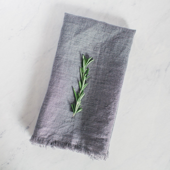 STONEWASHED LINEN COCKTAIL NAPKIN - CREATIVE WOMEN