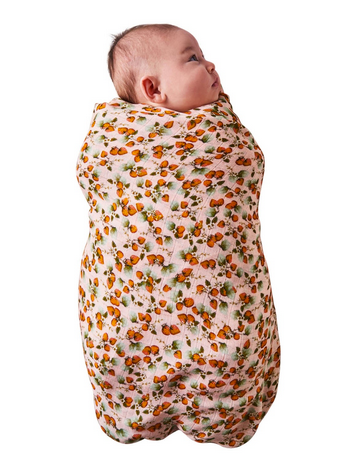 BAMBOO BABY SWADDLE - PEACH PATCH-children-todler-kids-baby-clothing-shopboygirl