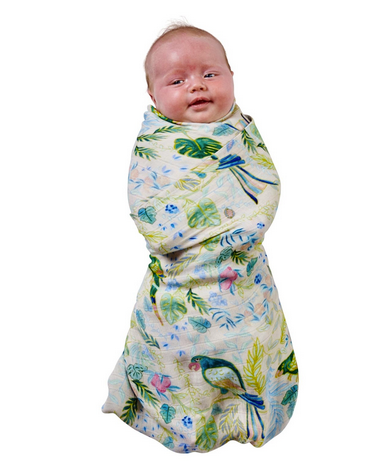 BAMBOO BABY SWADDLE - BIRDS OF PARADISE-children-todler-kids-baby-clothing-shopboygirl