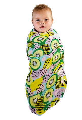 BAMBOO BABY SWADDLE - FRUIT SALAD-children-todler-kids-baby-clothing-shopboygirl