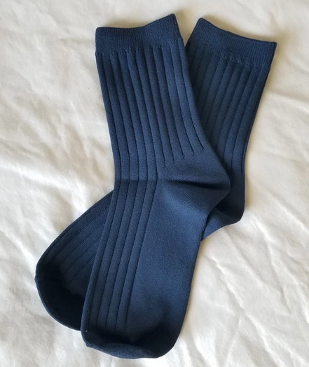 KNIT RIB SOCKS - SOLID
