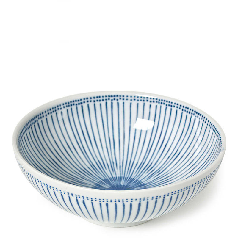 "BLUE STRIPES 8.25"" BOWL - JP CERAMICS-children-todler-kids-baby-clothing-shopboygirl"