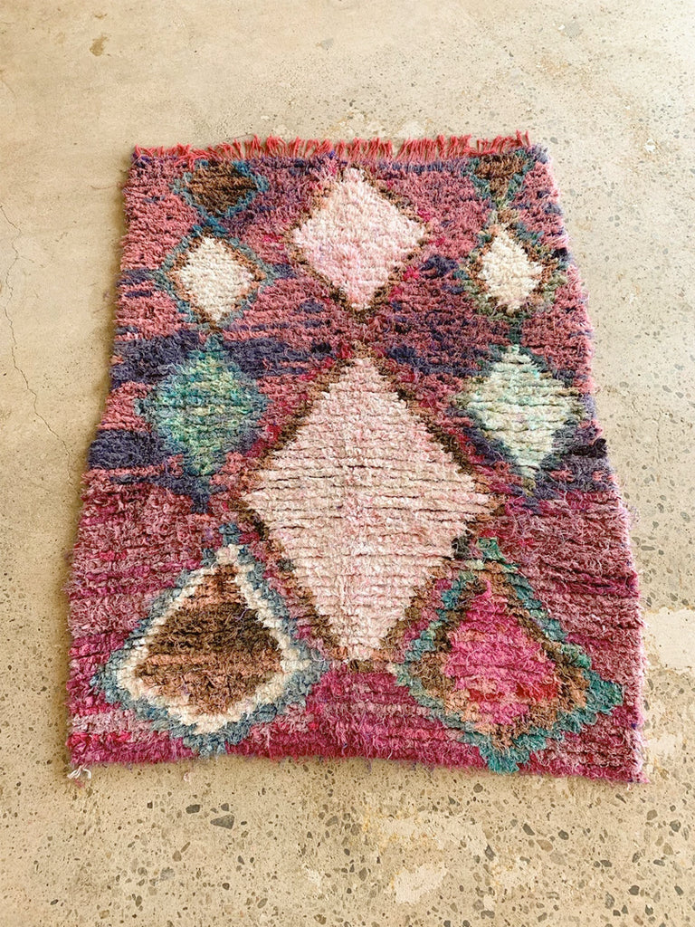 REVERSIBLE PURPLE - MOROCCAN RUG