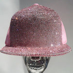 K4K COUTURE SNAPBACK TRUCKER CAP - ROSE PINK CRYSTALS