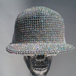 K4K COUTURE SNAPBACK TRUCKER CAP - SILVER WHITE CRYSTALS