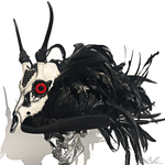 K4K COUTURE DESERT SKULL + COQUE FEATHER TOPHAT - Kali4Kouture