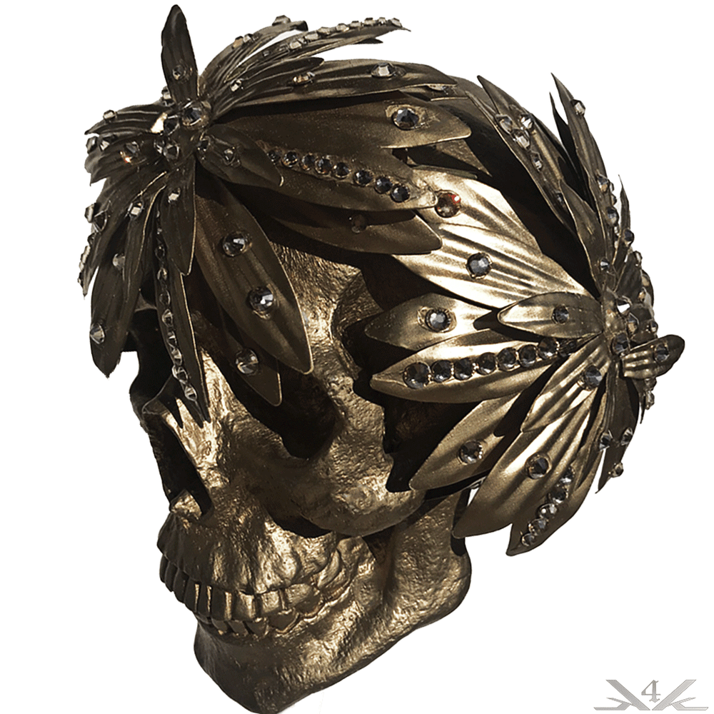 "K4K COUTURE ""BRONZED PETALS"" HEAD WREATH - Kali4Kouture"