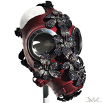 K4K COUTURE GASMASK - CRYSTAL FLOWERS - Kali4Kouture