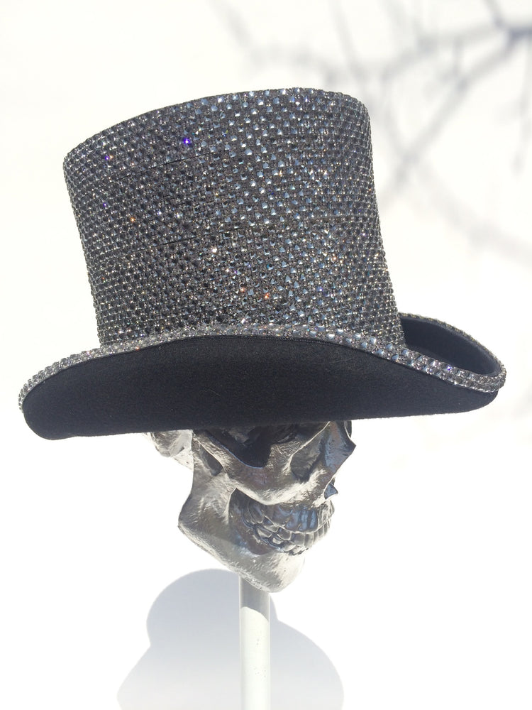 K4K COUTURE AYELSBURY TOPHAT - SILVER A/B STONES - Kali4Kouture