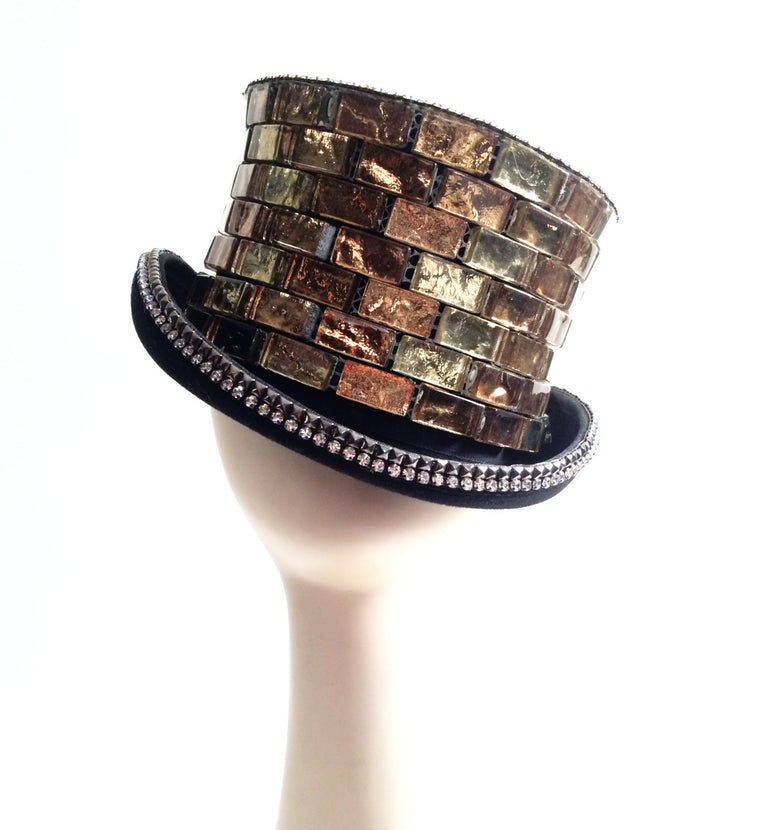 K4K COUTURE RIDING TOPHAT - SWAROVSKI STUDDED CERAMIC TILES
