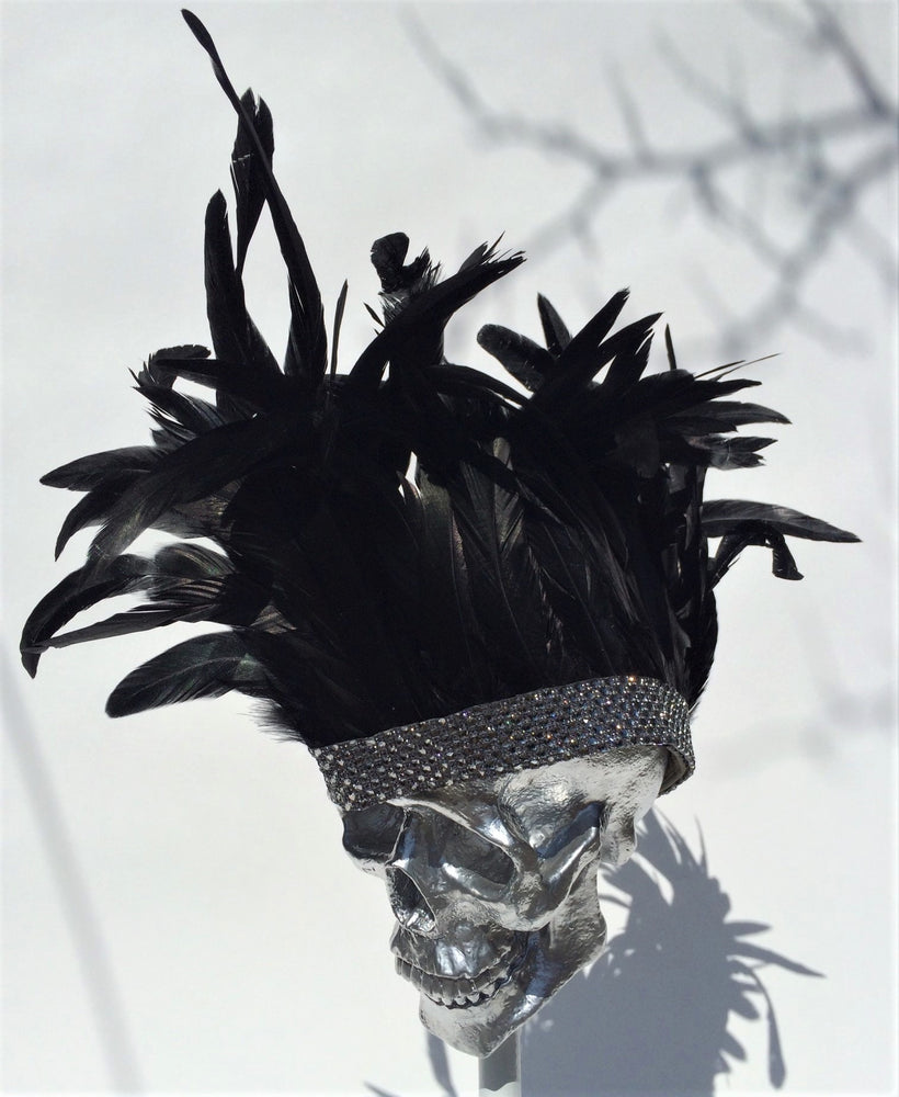 K4K COUTURE GARRISON ENVELOPE CAP - COQUE FEATHER MOHAWK - Kali4Kouture