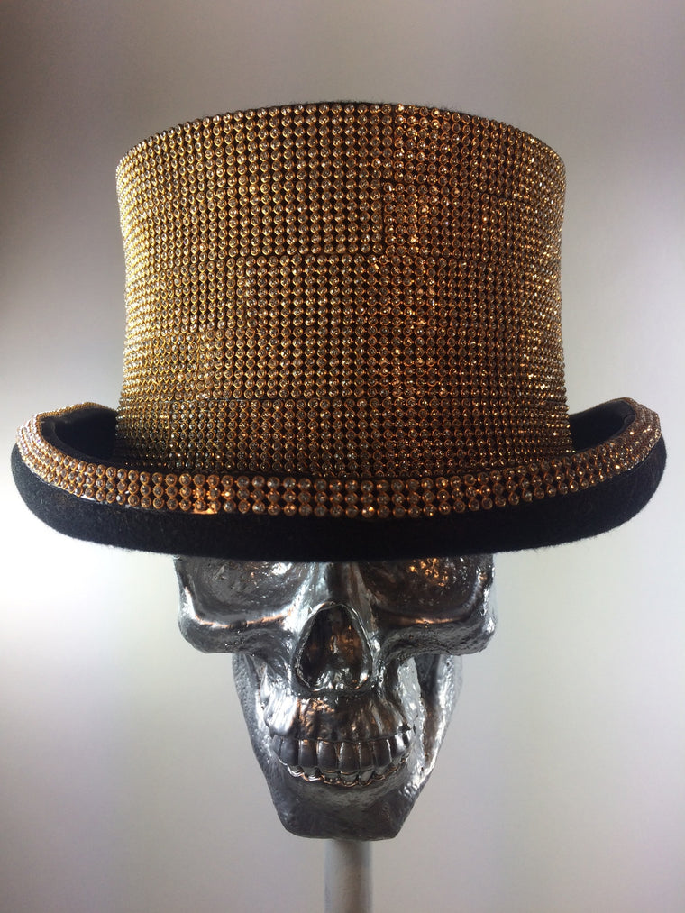 K4K COUTURE COACHMAN TOPHAT - GOLD CRYSTALS