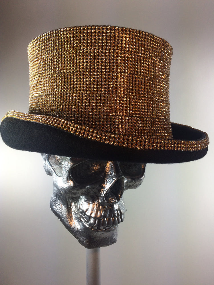 K4K COUTURE COACHMAN TOPHAT - GOLD CRYSTALS - Kali4Kouture