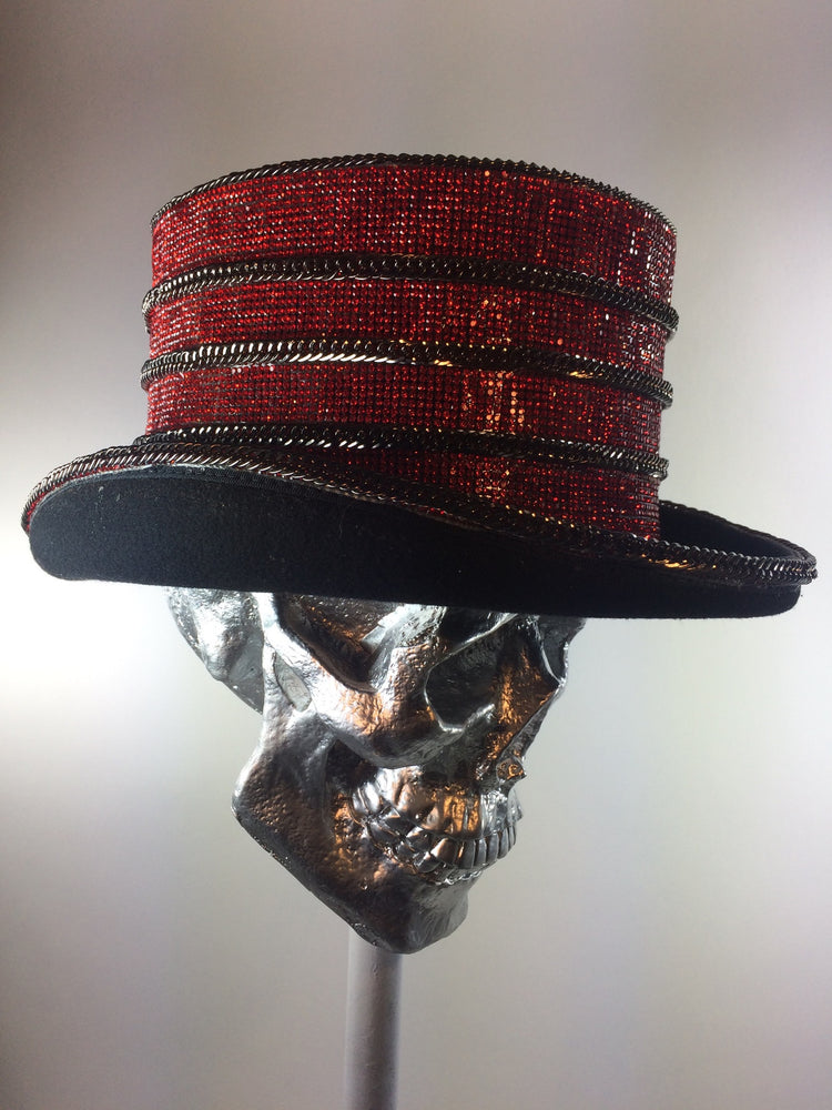 K4K COUTURE COACHMAN TOPHAT - CRIMSON CRYSTAL STACKS - Kali4Kouture