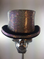K4K COUTURE COACHMAN TOPHAT - SILVER CRYSTALS