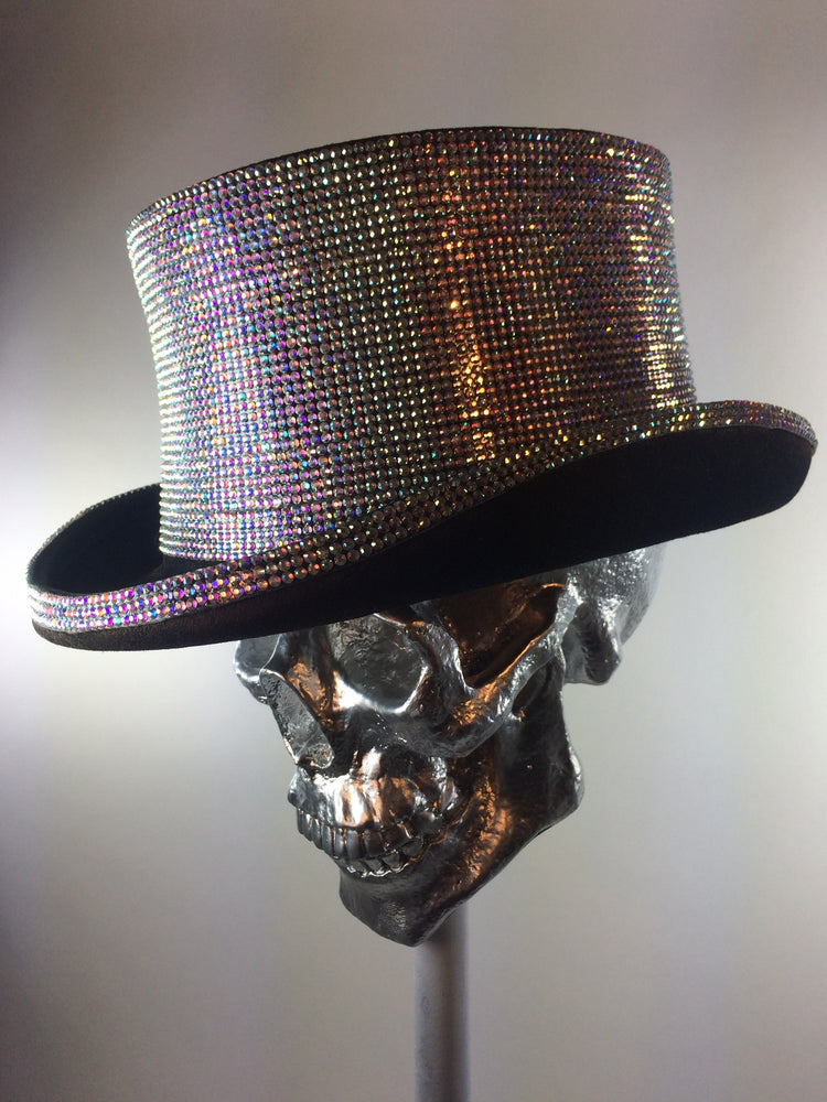 K4K COUTURE COACHMAN TOPHAT - SILVER CRYSTALS - Kali4Kouture