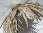 K4K COUTURE FLOPPY STRAW HAT - COQUE FEATHERS NATURAL - Kali4Kouture