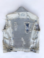 K4K COUTURE DESTROYED DENIM SLEEVELESS JACKET - Kali4Kouture