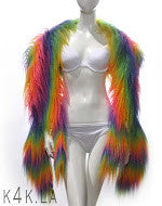 RAINBOW SPECTRUM OSTRICH FEATHER STOLE - Kali4Kouture