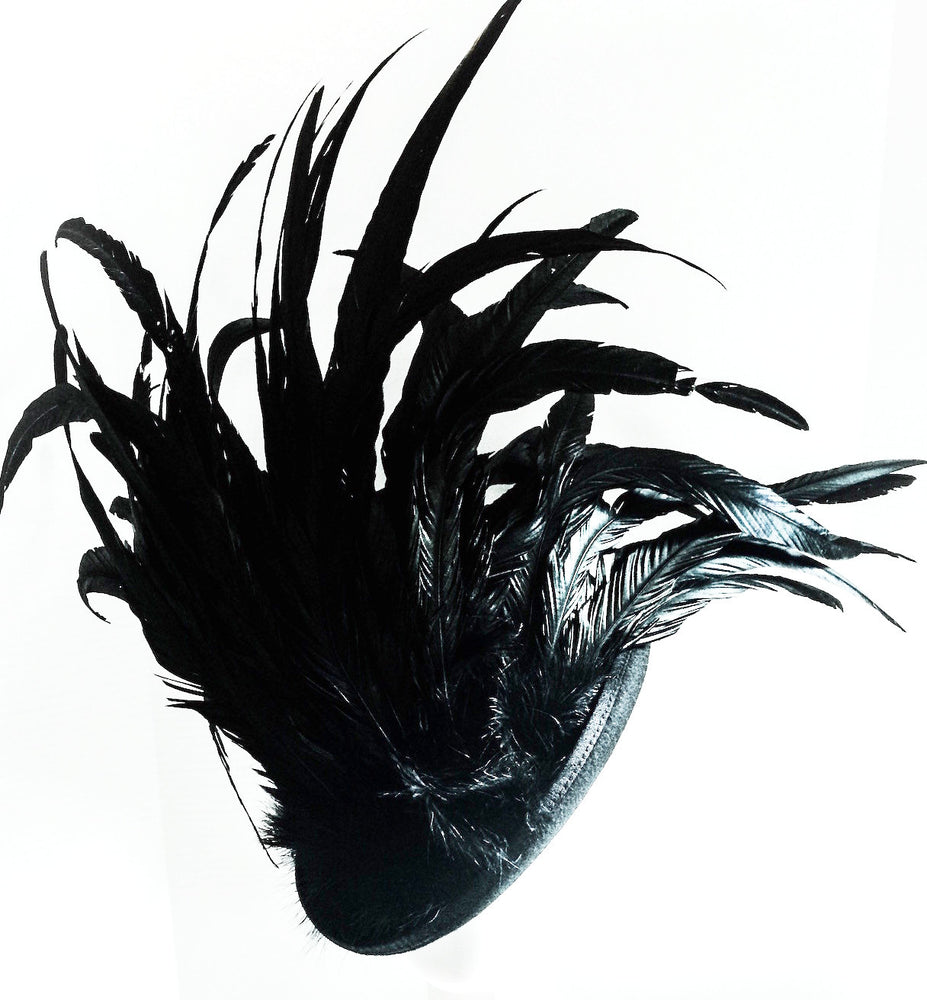 K4K COUTURE TOPHAT - COQUE FEATHERS BLACK - Kali4Kouture