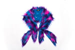 MIDNIGHT FAUX FUR STOLE - Kali4Kouture