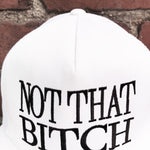 """NOT THAT BVTCH"" MESH TRUCKER SNAPBACK - WHITE - Kali4Kouture"