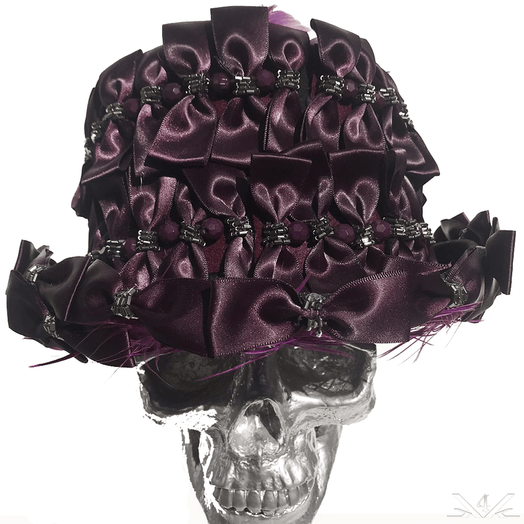 K4K COUTURE TOPHAT - ALL-OVER SATIN BOWTIES