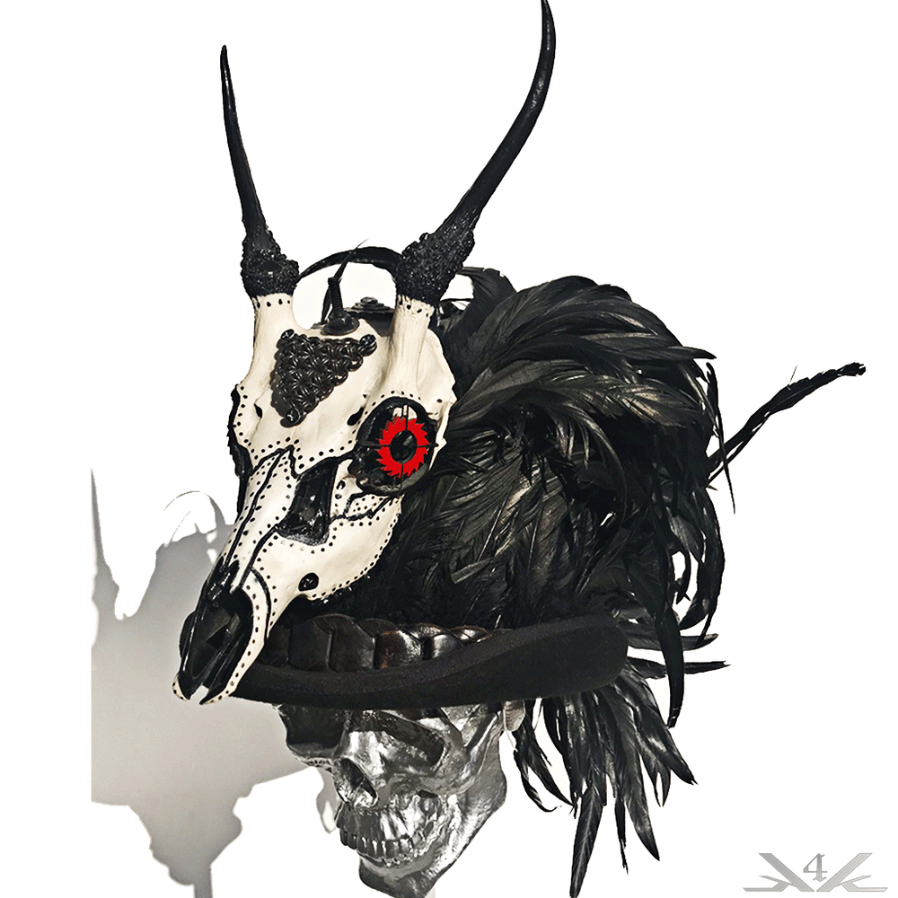 K4K COUTURE DESERT SKULL + COQUE FEATHER TOPHAT