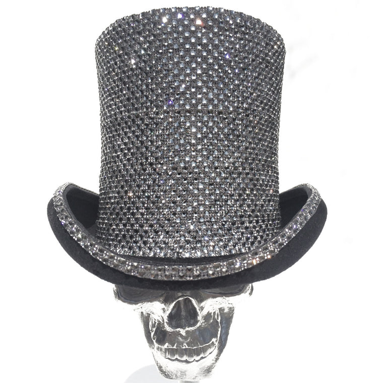 K4K COUTURE AYELSBURY TOPHAT - SILVER A/B STONES