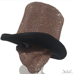 "K4K COUTURE GENTLEMAN'S TOPHAT ""A/B COPPER GOLD"" CRYSTALS - Kali4Kouture"