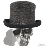 "K4K COUTURE COACHMAN'S TOPHAT - ALL OVER ""BLACK DIAMONDS"" - Kali4Kouture"