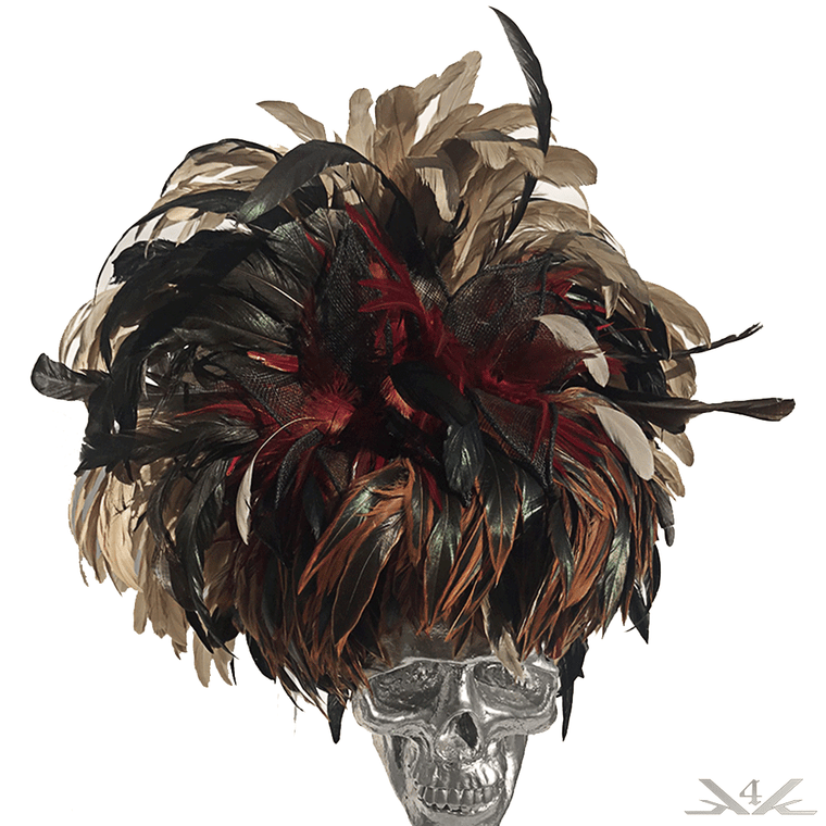 K4K COUTURE FASCINATOR - COQUE FEATHERS