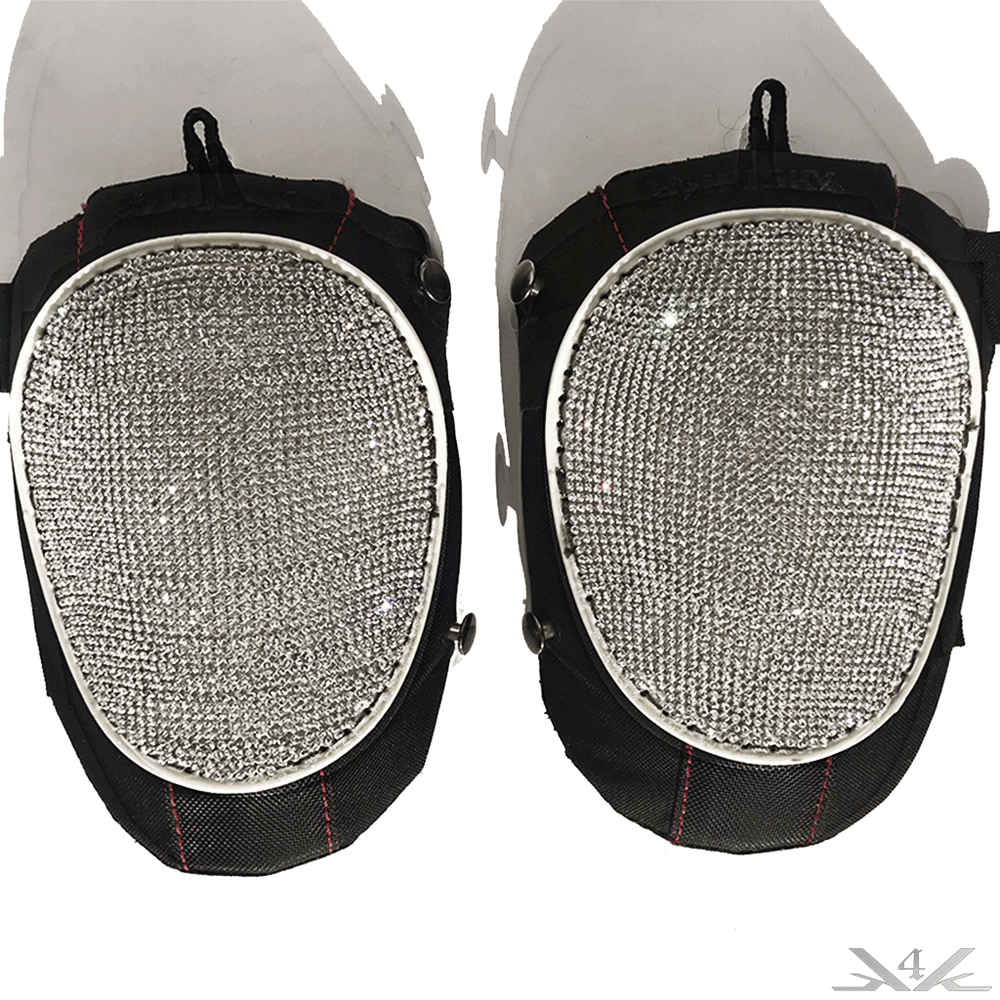 "K4K COUTURE ATHLETIC KNEE PADS ""WHITE DIAMONDS"" - Kali4Kouture"