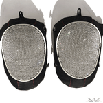 "K4K COUTURE ATHLETIC KNEE PADS ""WHITE DIAMONDS"""