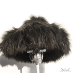 "K4K COUTURE ""OLD SCHOOL MC"" FAUX FUR BUCKET HAT - CHOCOLATE - Kali4Kouture"
