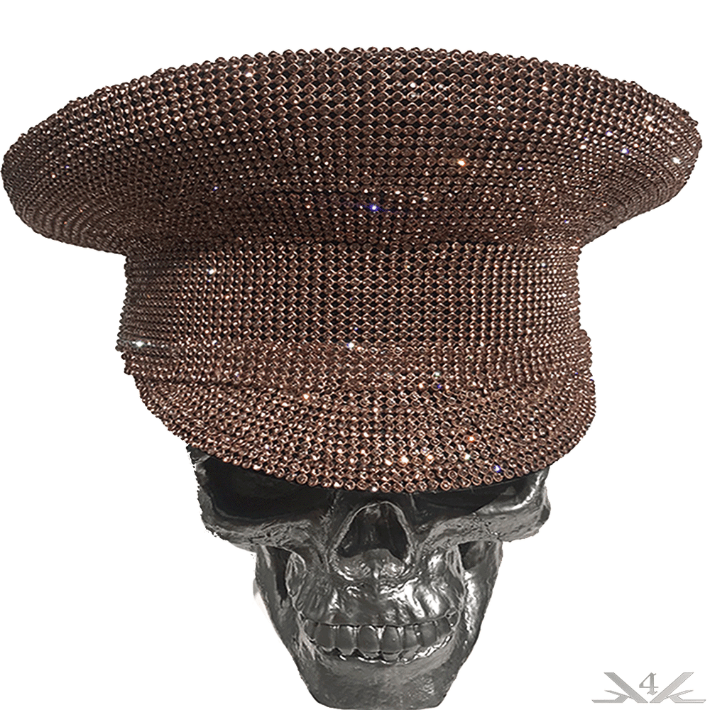 "K4K COUTURE COMMANDER CAP - A/B ""COPPER CRYSTALS"" - Kali4Kouture"