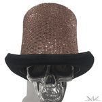 "K4K COUTURE GENTLEMAN'S TOPHAT ""A/B COPPER GOLD"" CRYSTALS"