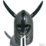 K4K COUTURE SWAROVSKI VIKING HELMET WITH HORNS
