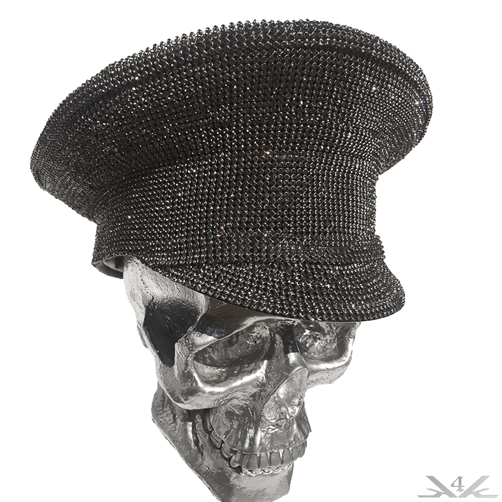 "K4K COUTURE COMMANDER CAP ""BLACK DIAMONDS"" - Kali4Kouture"