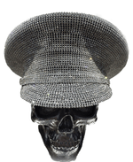 K4K COUTURE COMMANDER CAP - SILVER ALL-OVER CRYSTALS