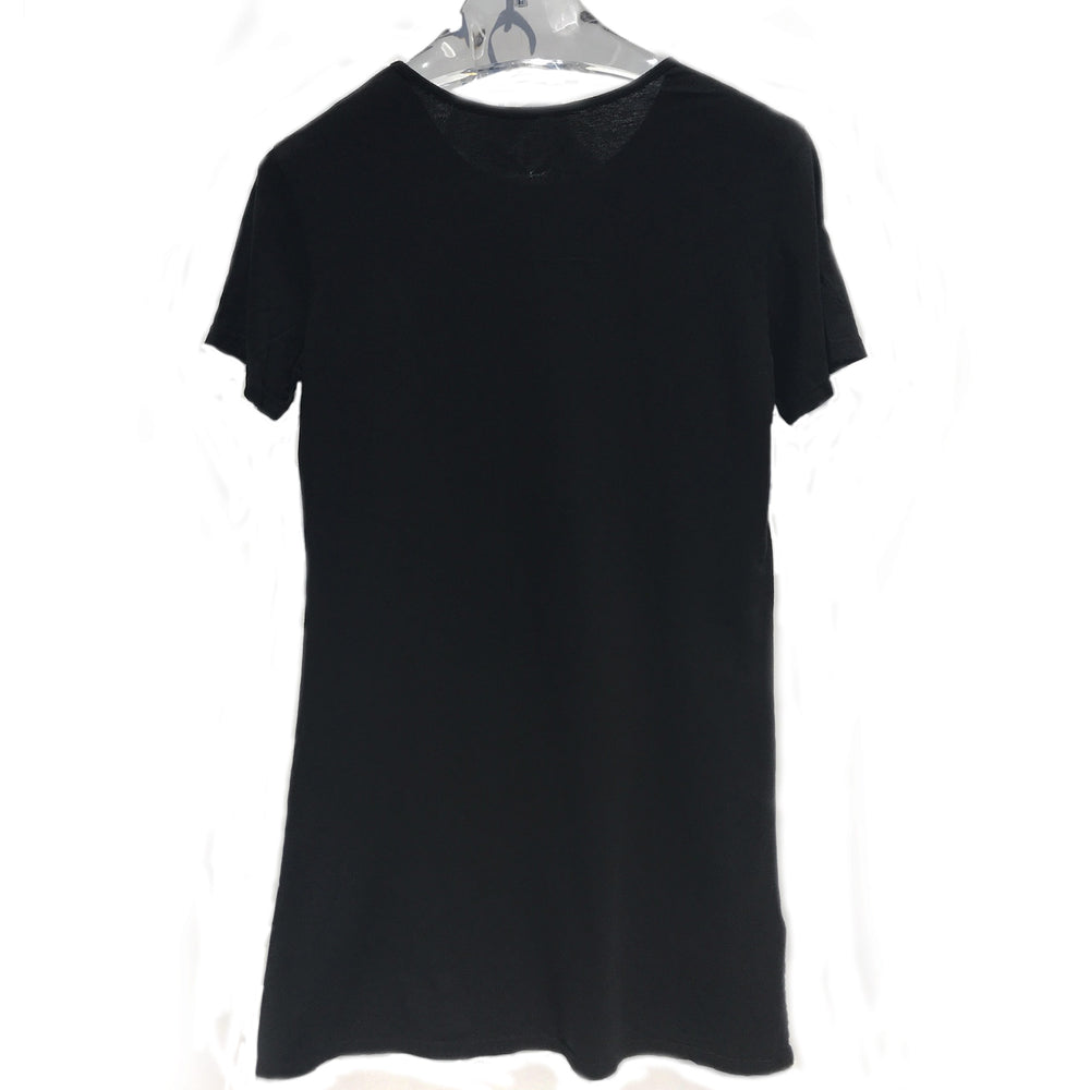 """RESIST"" SCOOP NECK LONG TEE - BLACK - Kali4Kouture"