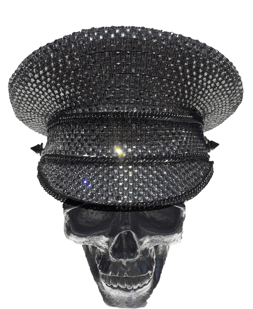 K4K COUTURE COMMANDER CAP - 1:4 SILVER CRYSTALS