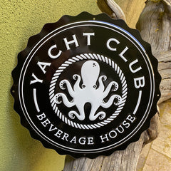 Custom Tin Tackers for Yacht Club Beverage House