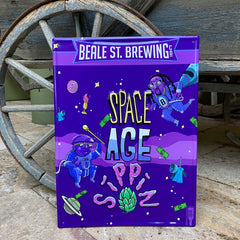 Custom embossed aluminum tacker sign for Beale Street Brewing Co
