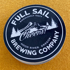 Logo sticker from Full Sail Brewing Co