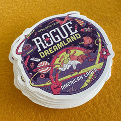 Dreamland sticker from Rogue Ales
