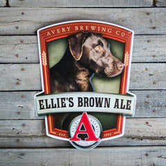 "Avery Brewing Co ""Ellie's Brown Ale"" Tin Tacker Metal Beer Sign"