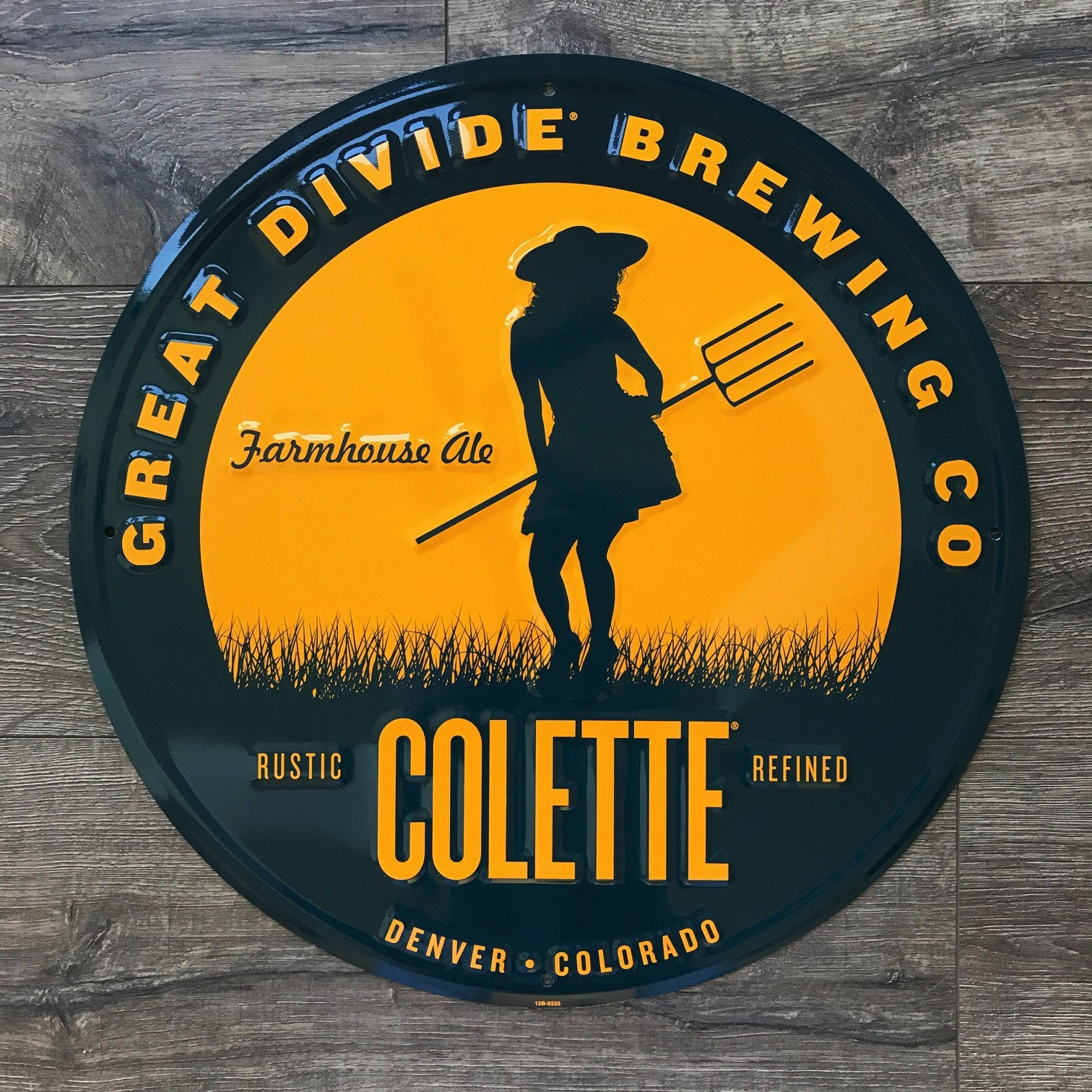 Great Divide Brewing Co Colette Tin Tacker Metal Beer Sign