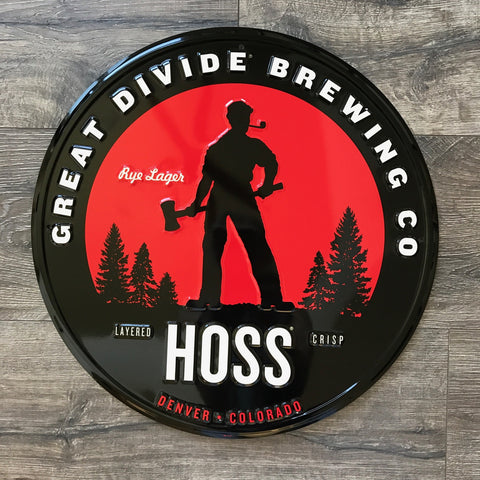 Great Divide Brewing Co Hoss Tin Tacker Metal Beer Sign