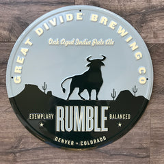 Great Divide Brewing Co Rumble Tin Tacker Metal Beer Sign